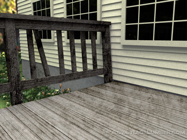 This deck is slowly deteriorating. Don't let this happen to your deck.