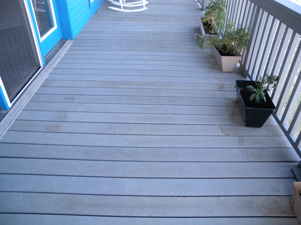 A faded and moldy composite decking will require a complete refinishing