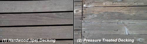 Ipe Decking vs. Pressure Treated Decking