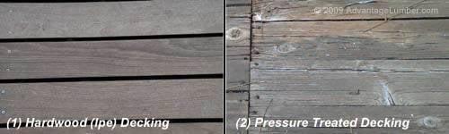 Ipe Decking vs. Pressure Treated Decking