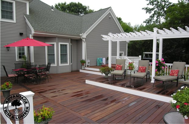 An ipe deck can be enjoyed all year round.