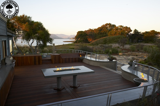 Hardwood Decking featuring
