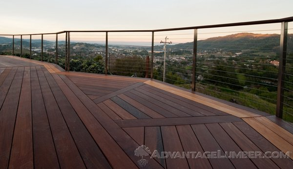 Gorgeous Ipe deck with Garapa border in San Rafael, CA.
