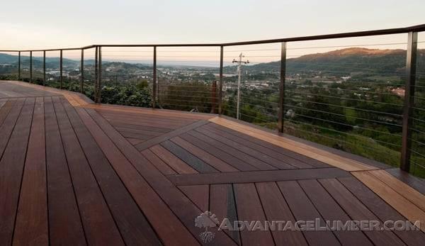 Gorgeous Ipe deck with Garapa border in San Rafael, CA.