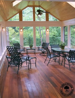 Covered Porch made with Tigerwood