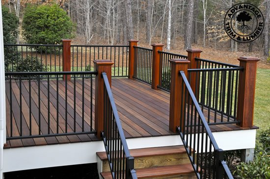 Tigerwood is a green decking option.