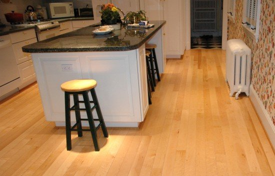 Birds Eye Maple Flooring In Kitchen