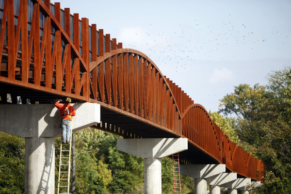 The Blacklick Creek Greenway Trail Bridge Spans over Rt. 33 in Columbus. Photo by Shari Lewis