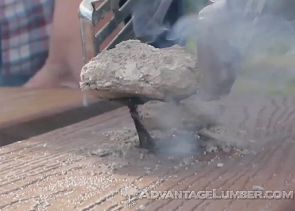 Check out DeckBusters™ to see what hot charcoal can do to your decking!