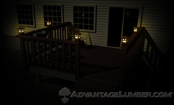 Incandescent Deck Lighting Creates a Warm Glow, but Does Not have a Long Lifespan