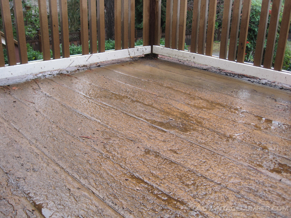 If you're not careful about the material you choose for your deck, you could end up with this!