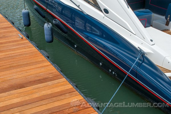 Cumaru is an ideal choice for docks and other marine applications.