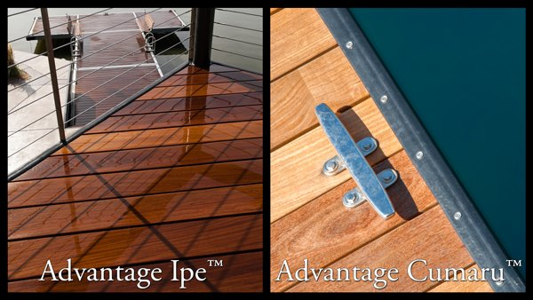 Advantage Ipe™ & Advantage Cumaru™ are two gorgeous hardwood options.