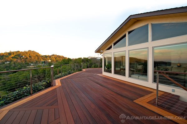 This gorgeous ipe and Garapa deck will last for year with no chemical treatment.