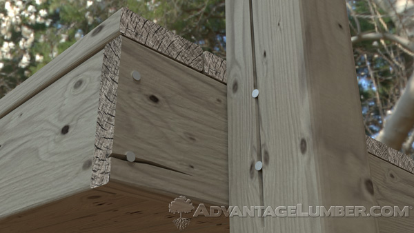 As wood moves, nails and other inadequate fasteners can loosen over time.