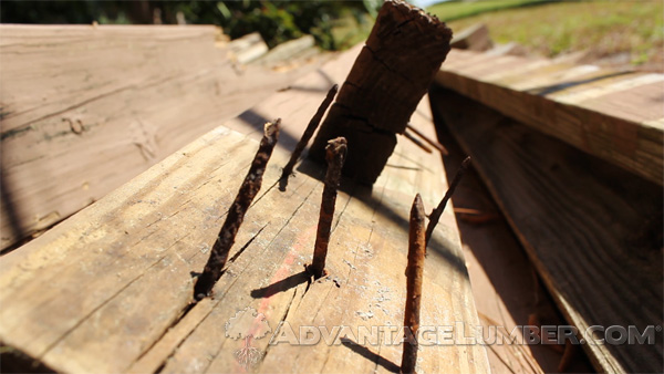 Nails tend to corrode much faster than other decking fasteners and cause many deck collapses.