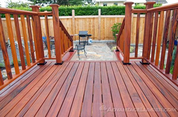 Advantage Tigerwood™ railing will match the exotic look of your decking flawlessly.