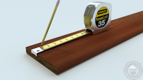Be sure to get accurate measurements to ensure easy installation.