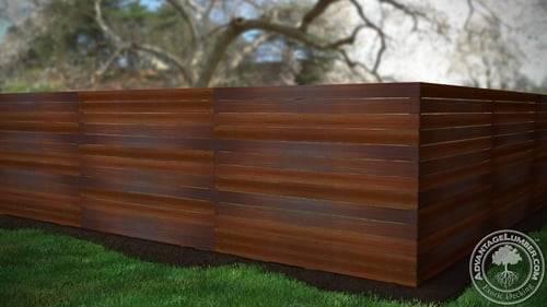 How To Build A Horizontal Ipe Fence Advantagelumber