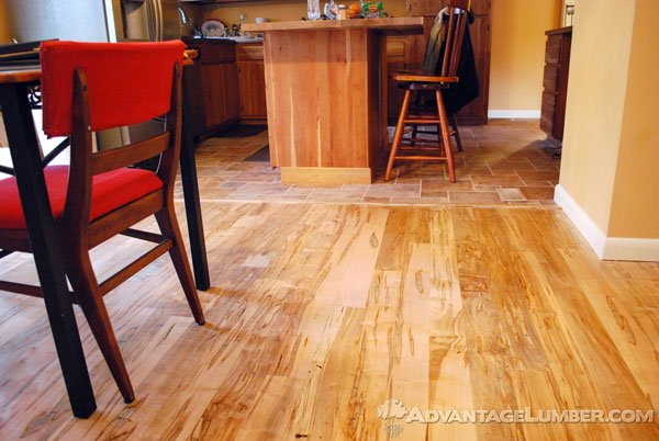 Ambrosia Maple's versatility is perfect for both flooring and kitchen cabinets.
