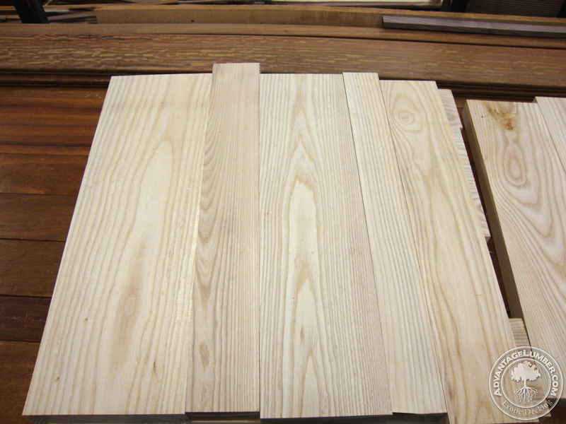 Ash wood arranged to be glued for table tops