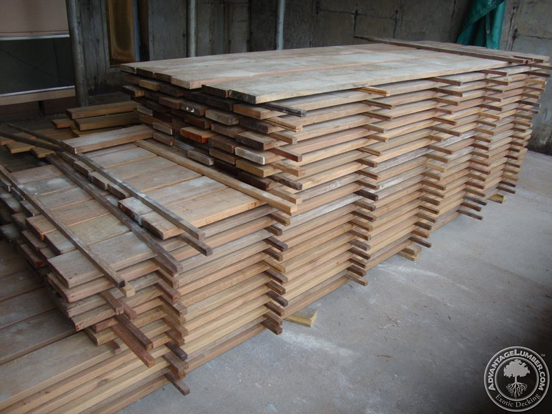 Brazilian hardwood  ready after kiln drying process in North Carolina