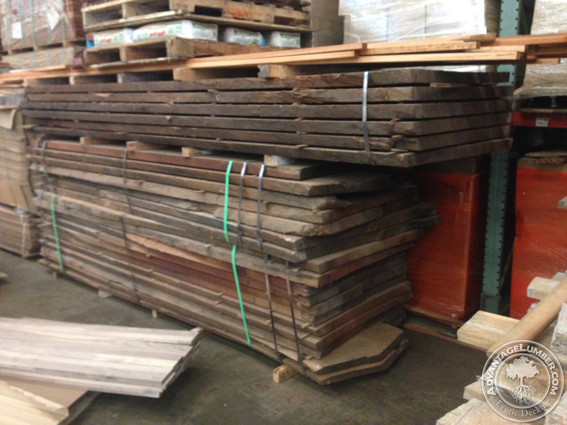 Wide boards of Brazilian hardwood with live edges for custom orders