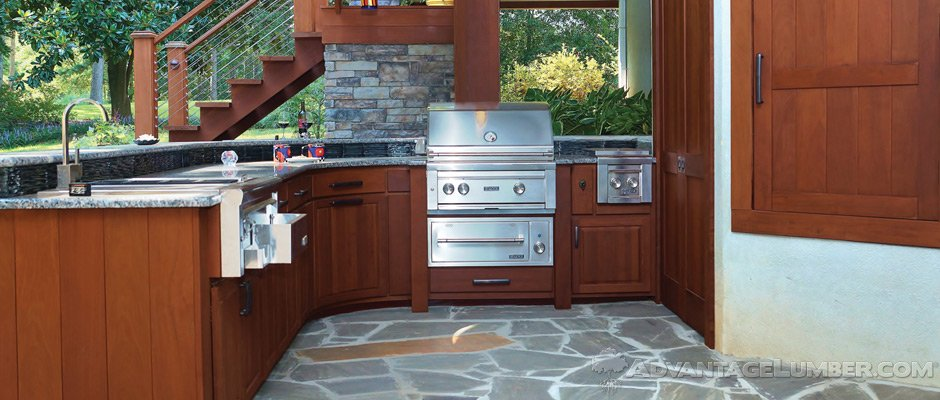Ipe Wood Outdoor Kitchen