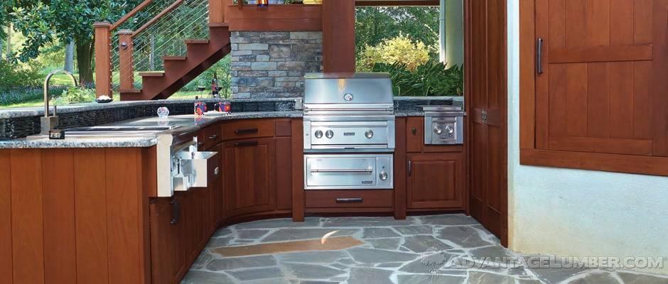 Ipe Wood Outdoor Kitchen