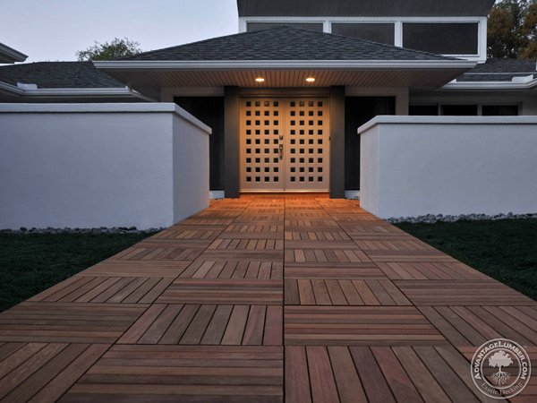 Ipe Hardwood Deck Tiles