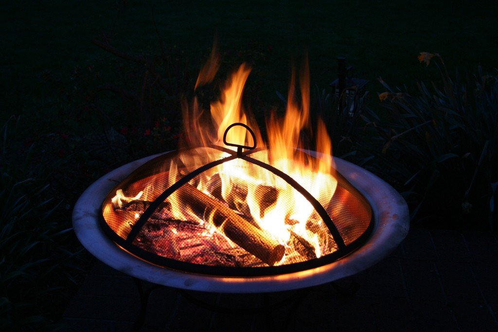 These metallic fire pits are perfect for small back yards.