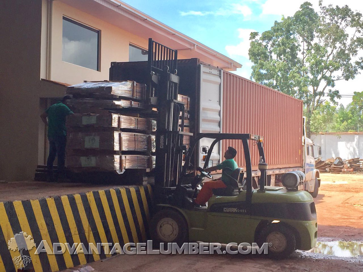 FSC Tigerwood Brazil Mill Container