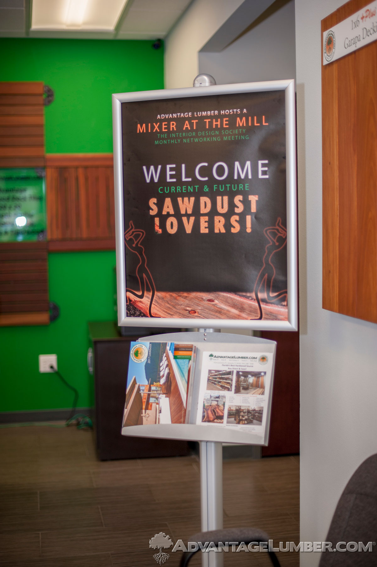 Guests were greeted by a beautiful sign that welcomed them into our mill.
