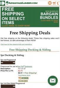 Free Shipping Decking
