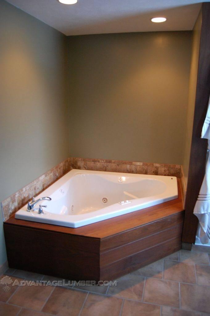 Etonnant Ipe Wood Jetted Tub