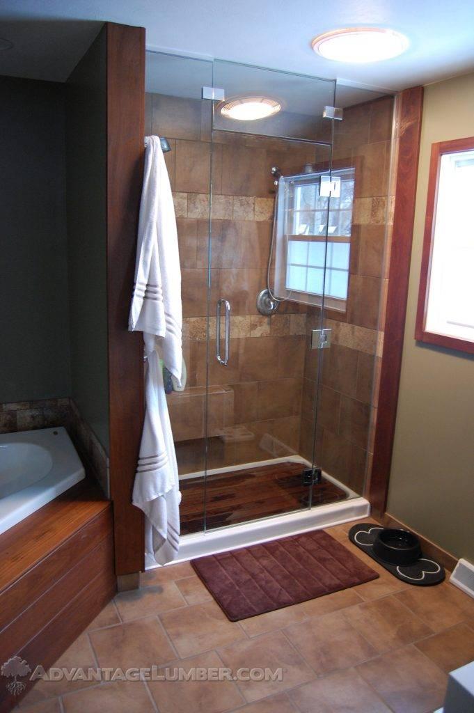 Charmant Ipe Wood Shower
