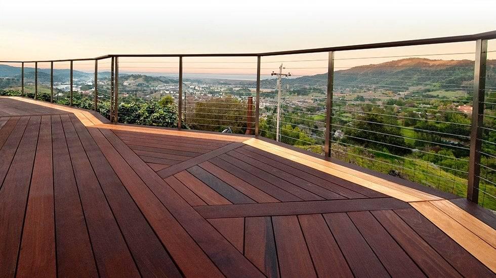 modern ipe deck