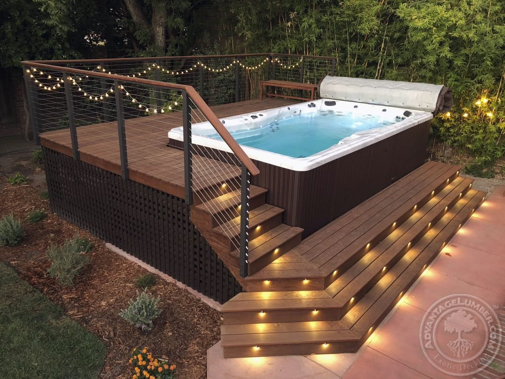 swim spa deck