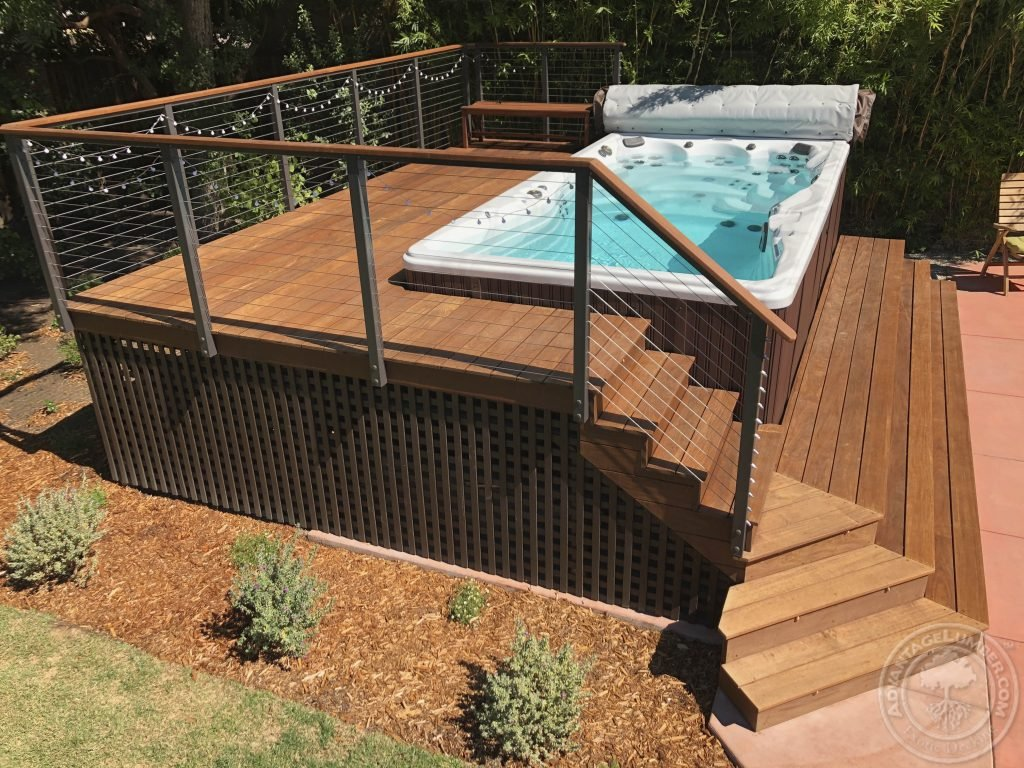ipe swim spa deck