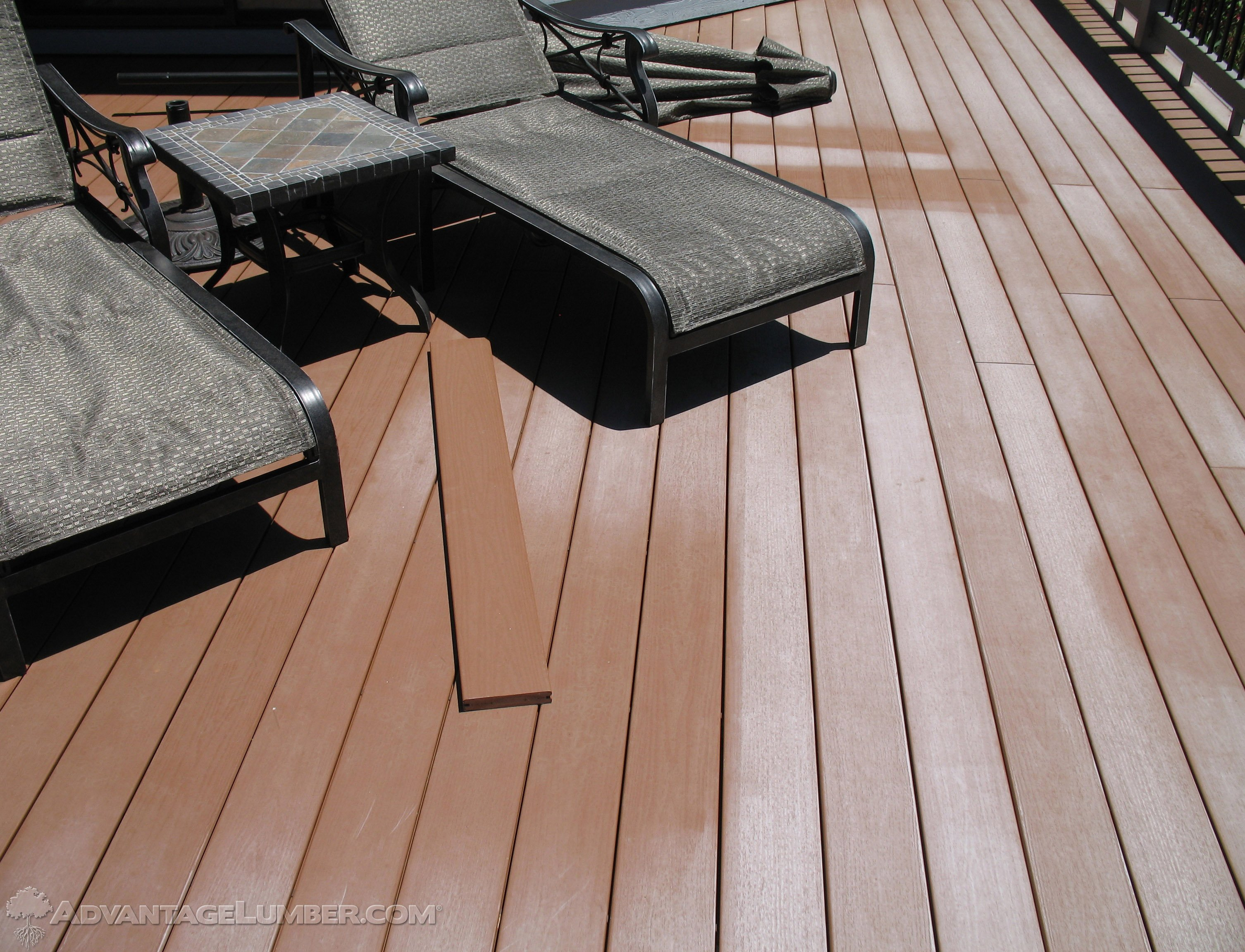 composite deck fading
