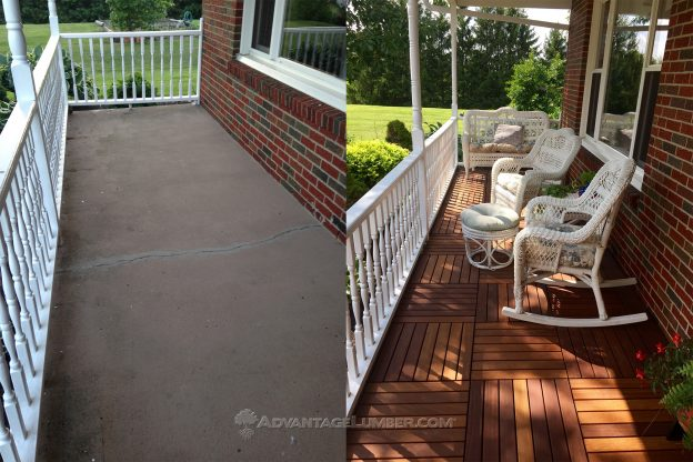 Concrete Porch Wood Deck