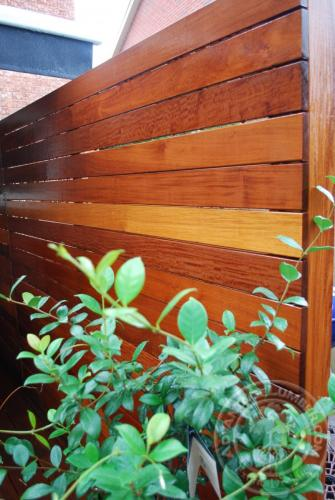 Horizontal Ipe Fence
