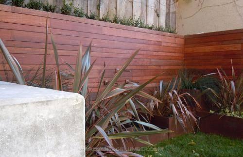 Horizontal Ipe Fence