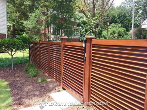 Ipe Louver Fence