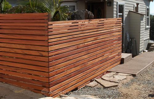 tigerwood modern privacy fence