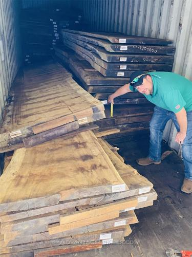 Parota Slabs Arriving